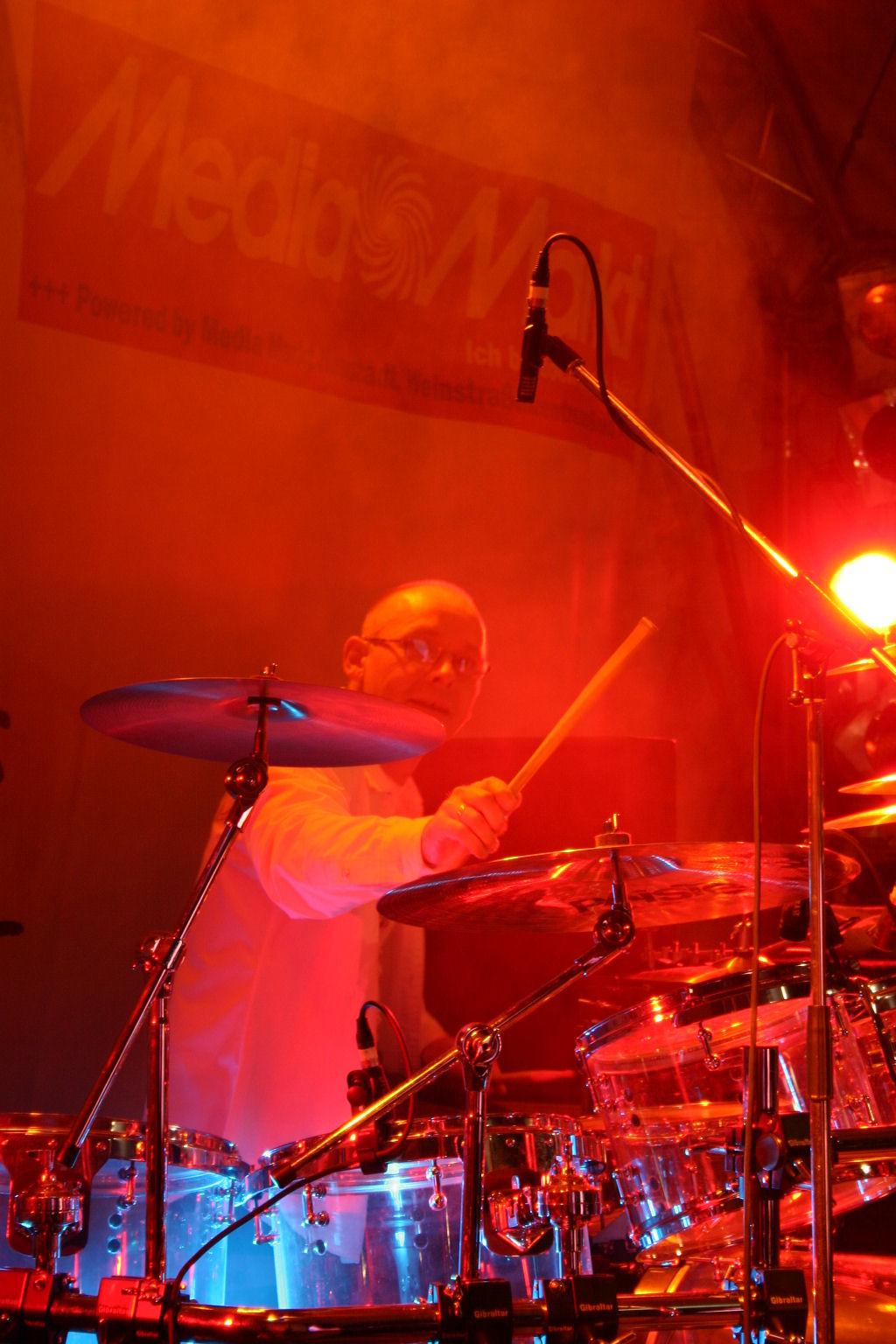 Johannes Gerster on WAHAN drums
